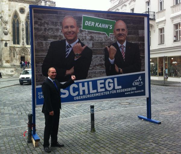 Von nix gewusst? Christian Schlegl (hier im OB-Wahlkampf). Foto: Archiv/ as