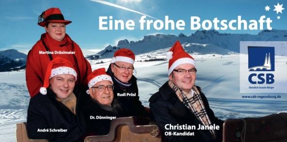 """""""Ein Plakat mit Erinnerungswert"""": die einstmals """"frohe Botschaft"""" der CSB."""