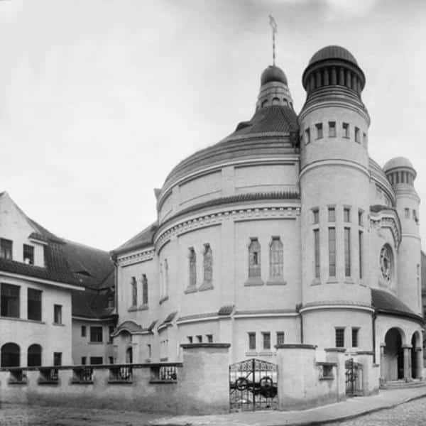 Die 1912 errichtete Neue Synagoge in der Schäffnerstraße.