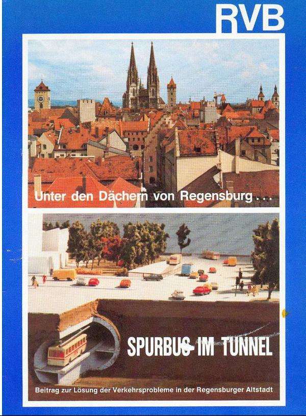 Visionäre Verkehrskonzepte gibt es nicht nur unter Christian Schlegl. Diese Broschüre stammt aus den 80ern.