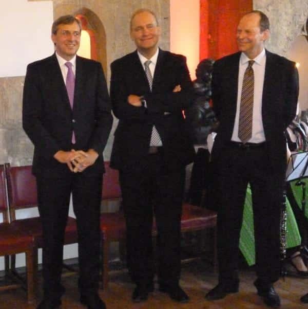 Drei, die sich (zur Zeit) verstehen: Franz Rieger, Christian Schlegl und Peter Kittel.