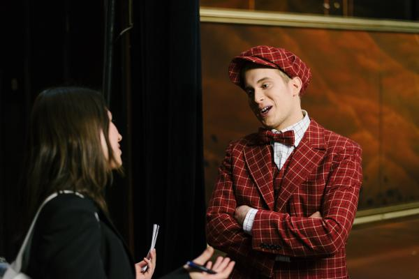 Der Österreicher Matthias Wölbitsch spielt in Frau Luuna denn Berliner Studenten August Lämmermeier.