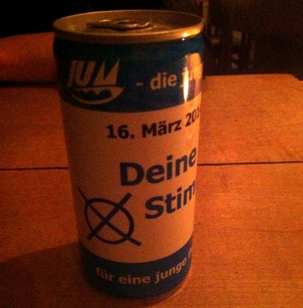 Wahlkampf jetzt mit mehr Inhalt: Die JU kann's! Foto: as