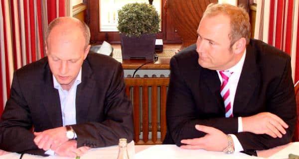 Arbeiteten einst intensiv zusammen, jetzt im Dauerzwist: Wolbergs und Schlegl. Foto: Archiv/ as Foto: Archiv