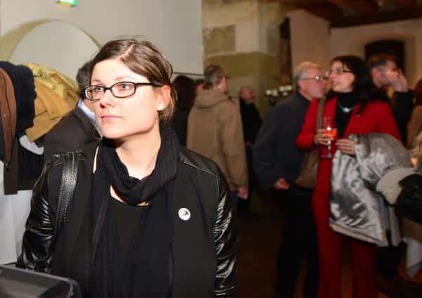 Noch im Gespräch: Piratin Tina Lorenz. Foto: Staudinger