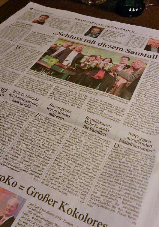Die NPD? Dasselbe wie de4r Bund Naturschutz oder die Bayernpartei, meint zumindest die Passauer Neue Presse.