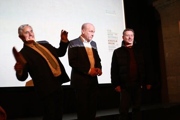 Der Einladung der Festivalleitung folgten die OB Kandidaten Jürgen Huber, Joachim Wolbergs und Richard Spieß (v.l.n.r.).