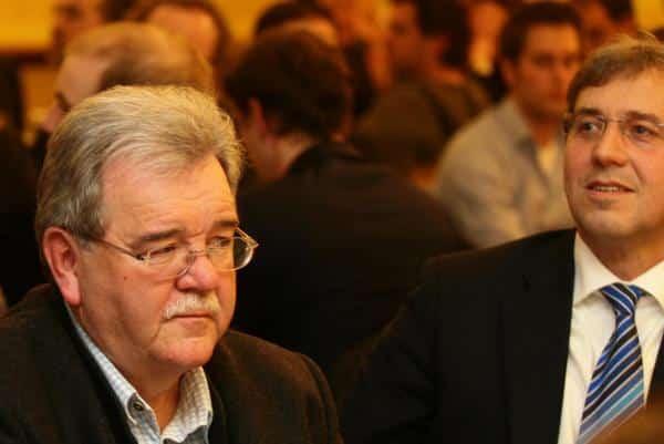 """""""Führung der Fundamentaloppostion"""": Hermann Vanino und Franz Rieger. Foto: Archiv/ Staudinger"""