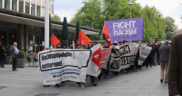 Etwa 120 Menschen demonstrierten gegen den Auftritt der AfD. Foto: ld