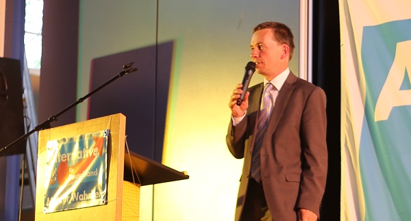 Auftritt vor vollem Saal: Bernd Lucke. Foto: ld