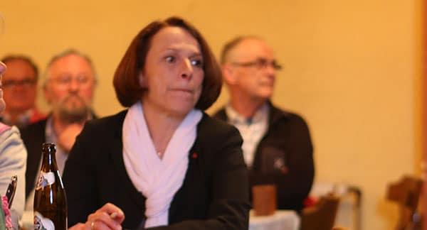 Noch etwas nervös, aber glücklich: Bürgermeisterin Gertrud Maltz-Schwarzfischer.