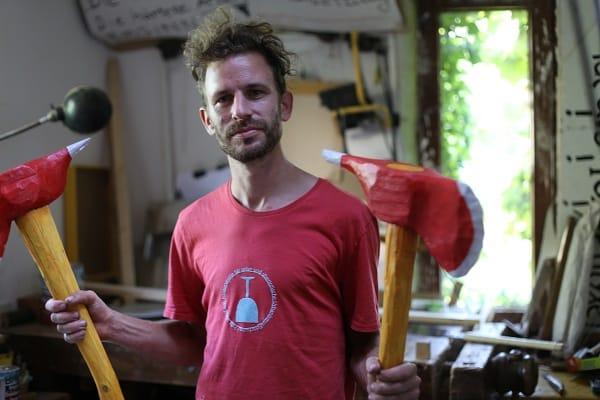 """Jakob Friedl über Huber: """"Der ist halt Maler."""" Foto: Archiv/ dl"""