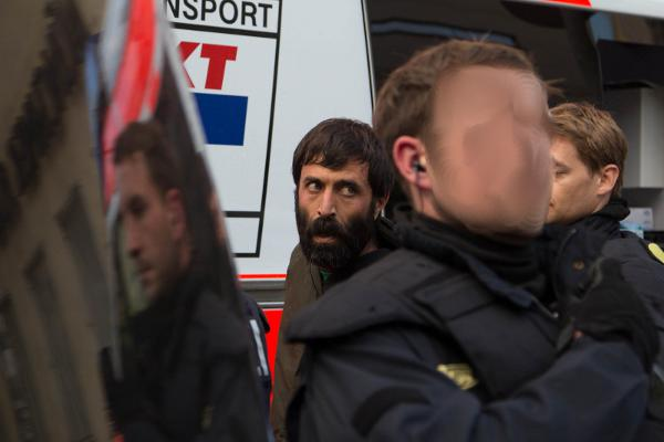 Mohammad Kalali bei seiner Festnahme am Münchner Rindermarkt.