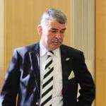 """Gustl Mollath: Mit konkreten Aussagen zu den Tatvorwürfen will er das Gericht """"nicht belasten"""". Foto: ld"""