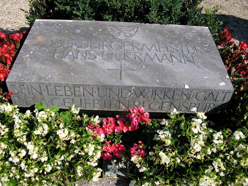 Das Grab von Hans Herrmann auf dem oberen katholischen Friedhof. Foto: Archiv/ Werner