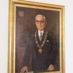 Porträt von Hans Herrmann im Regensburger Rathaus. Foto: Stadt Regensburg