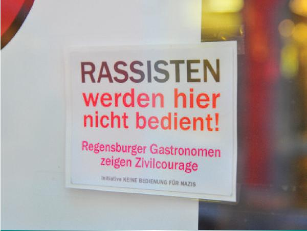"""Der Verein """"Keine Bedienung für Nazis"""" kümmert sich um den Fall. Foto: Archiv/ Staudinger"""