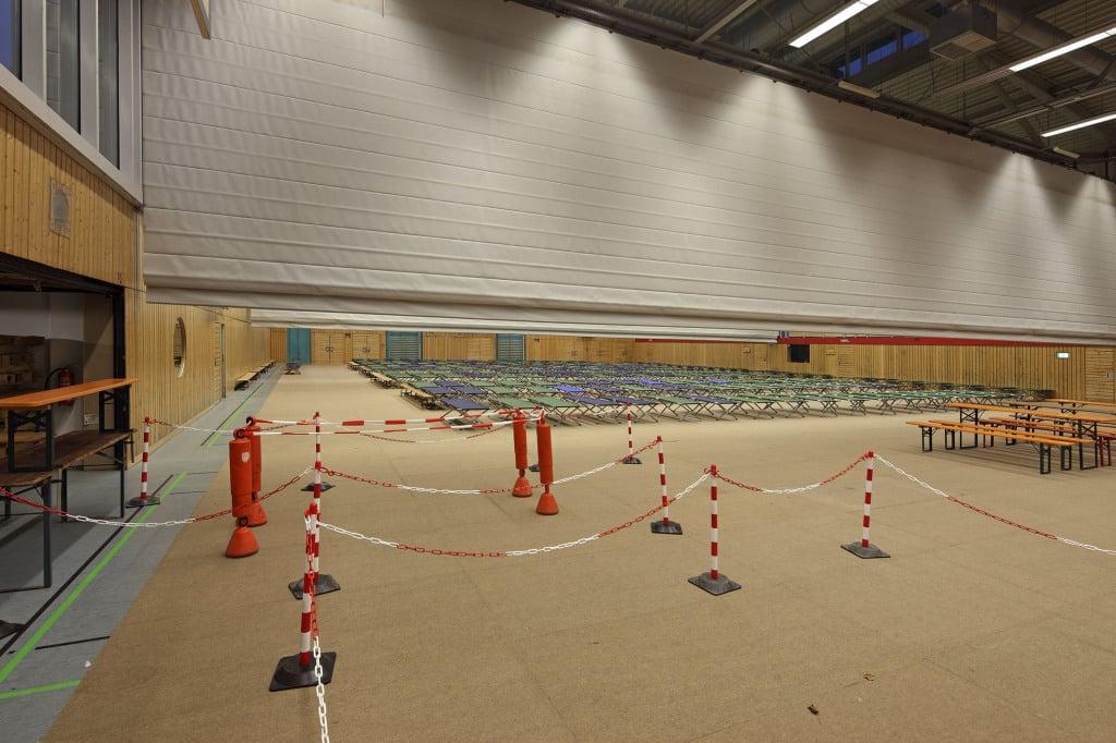 Die Clermont-Ferrand-Turnhalle nach den Arbeiten der freiwilligen Helfer. Foto: Stadt Regensburg.