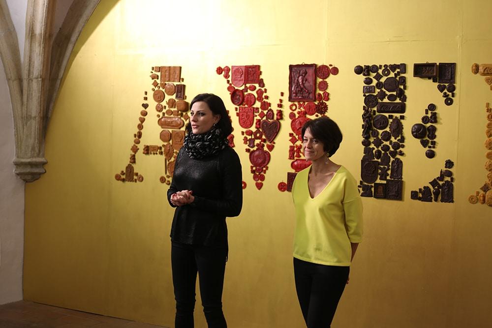 Susana Nevado (r.) arbeitete bereits zwischen 2012 und 2013 für sechs Monate mit lokalen Künstlern im Andreasstadel.