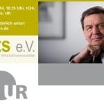 Altbundeskanzler Gerhard Schröder kommt für einen Vortrag nach Regensburg. Foto: Plakat / Website roots e.V.