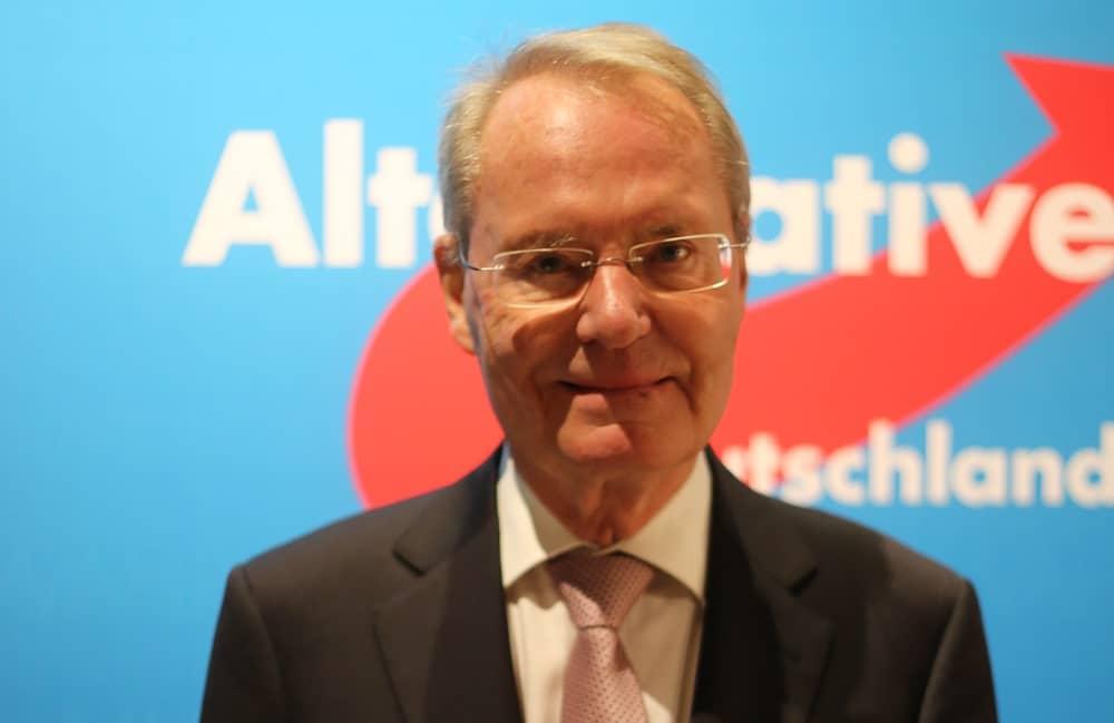 """Hans-Olaf Henkel, ehemaliger BDI-Chef, heute stellvertretender Parteisprecher der AfD: """"Ich komme mir vor wie ein Geisterfahrer."""" Foto: ld."""