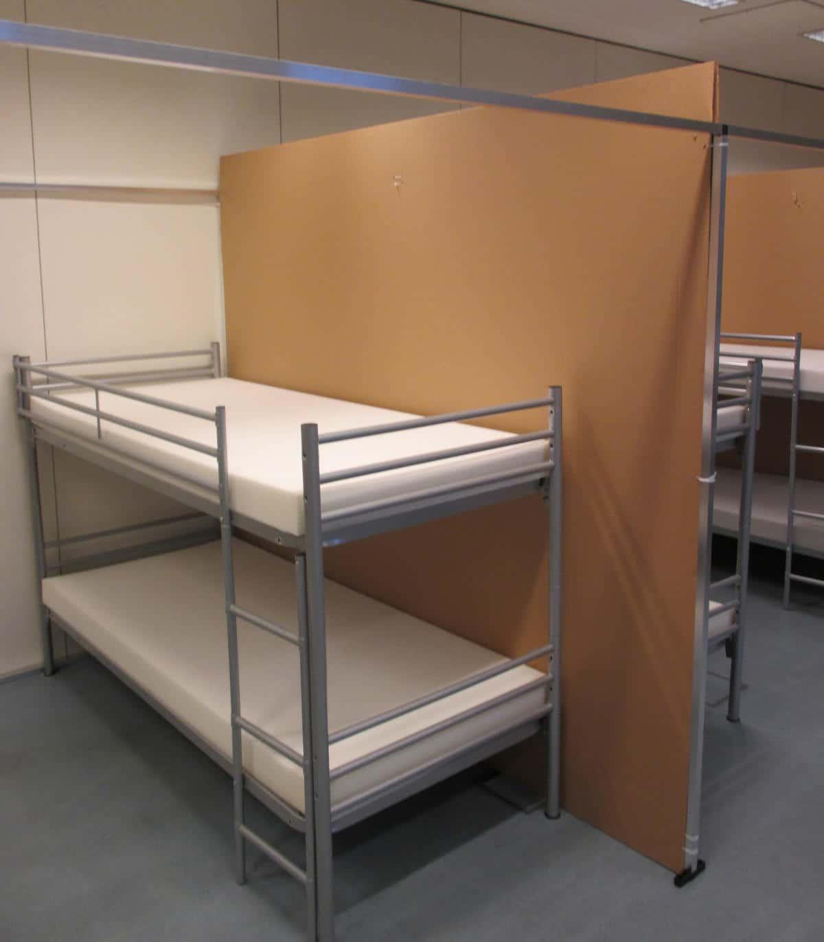 Wenn Flüchtlinge kurzfristig eintreffen, werden sie hier für eine Nacht untergebracht.