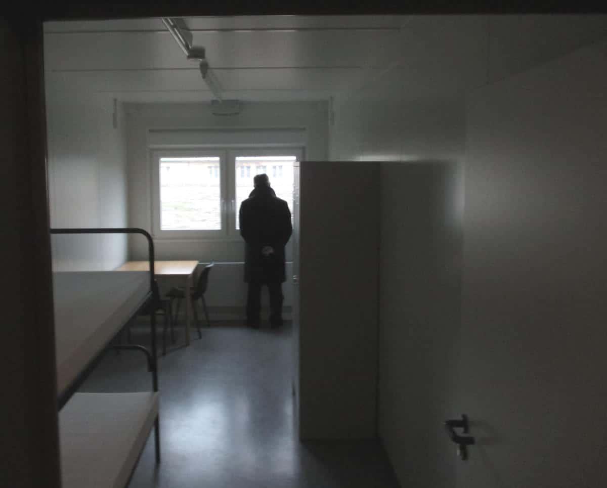 Blick in einen Container. 13,6 Quadratmeter für zwei Personen. Foto: as
