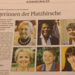 Oben links: Hildegard Anke in Vertretung von Christa Meier. Daneben: Platzhirsch-Bezwingerin Roberto Blanco.