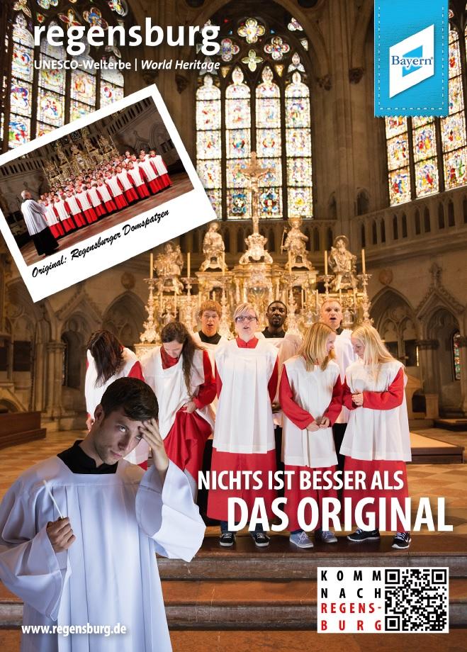 Dieses Motiv findet die RTG weder frauen- oder fremdenfeindlich noch missverständlich. Bild: Regensburg Tourismus GmbJ