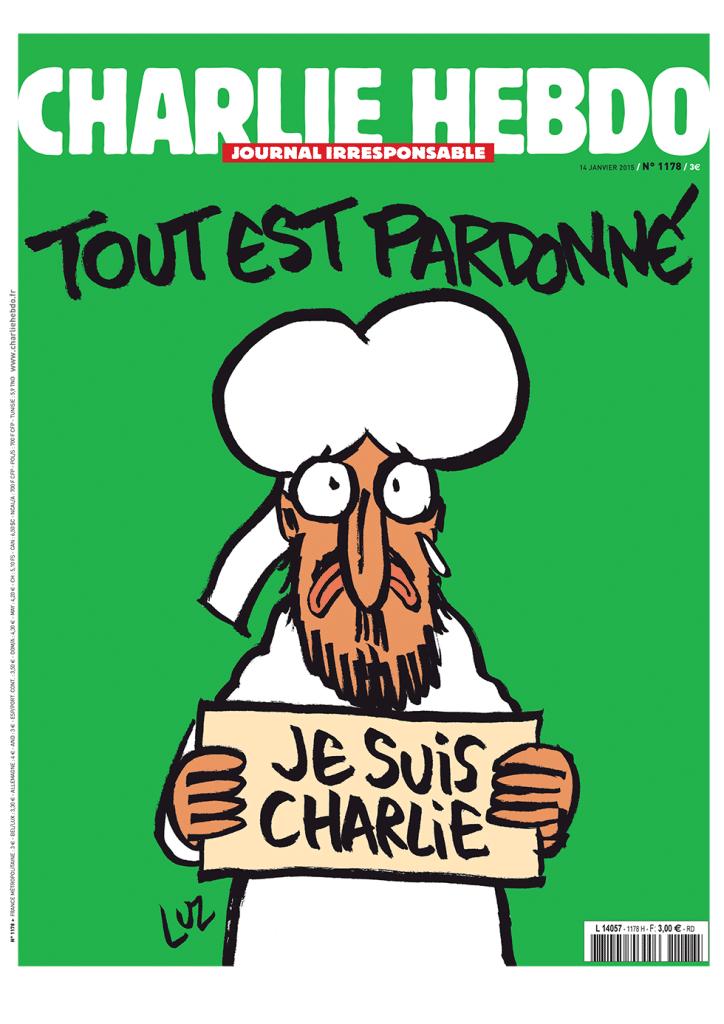 """""""Alles ist vergeben."""" Cover der aktuellen Ausgabe von Charlie Hebdo."""