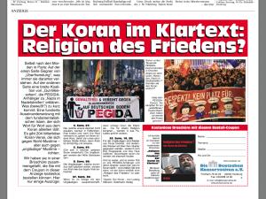 """In der Wochende der PNP: Anzeige des Rechtsaußen-Vereins """"Deutsche Konservative""""."""