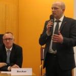Stadtbau-Aufsichtsratsvorsitzender Joachim Wolbergs und Geschäftsführer Joachim Becker sehen sich mit einer Millionenklage konfrontiert. Foto: Archiv/ as