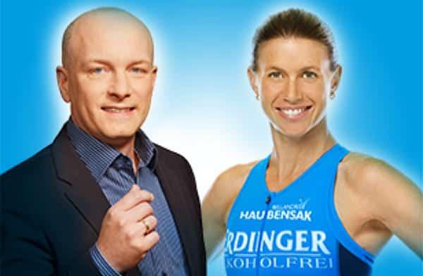 Fitness-Trainerin und Unterstützerin von Joachim Wolbergs: Sonja Tajsich mit dem damaligen Oberbürgermeister-Kandidaten auf einem Wahlkampf-Foto. Foto: pm