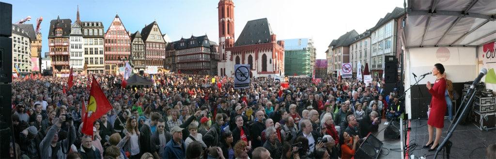 Mehr als 20.000 Menschen nahmen an der Kundgebung