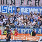 4:4 endete das Spiel zwischen dem SSV Jahn und Hansa Rostock. Während es im Stadion friedlich blieb, attackierte eine Aggro-Truppe im Vorfeld eine Familie. Foto: Archiv/ Staudinger