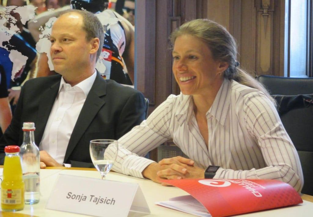 Schwärmt von Regensburg und dem Challenge: Sonja Tajsich mit Ehemann Thomas. Foto: as