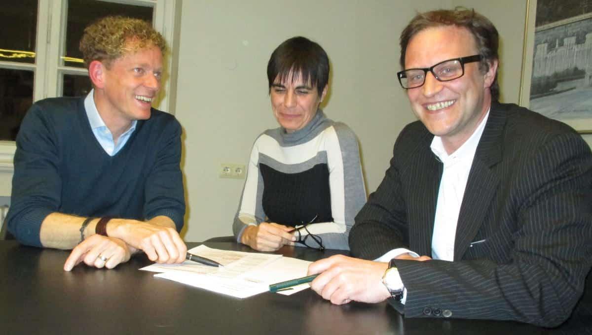 Bemüht, Optimismus zu verbreiten: Jörg Roscher, Carola Kupfer und Andreas Eckl. Foto: as