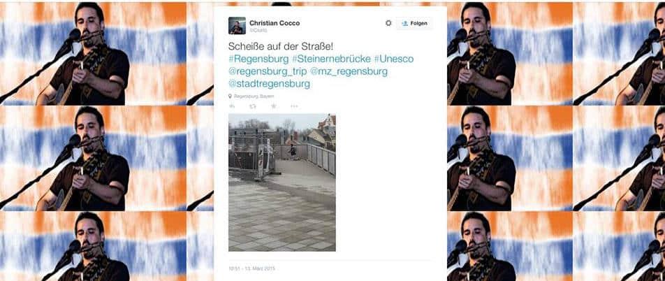 Der Tweet von Christian Cocco. Kurz nach Veröffentlichung unseres Artikel hat er ihn gelöscht.
