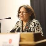 Hielt einen Vortrag zur Geschichte des Frauenwiderstands: Irene Salberg, Vorsitzende von ver.di Regensburg. Fotos: ld.