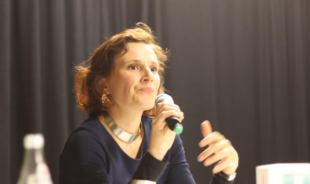 """Sieht sich als """"feministische Marxistin"""" oder """"marxistische Feministin"""": Katja Kipping."""
