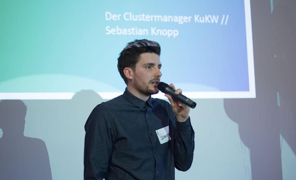 """Sebastian Knopp, Mitinitiator des Creative Monday und neuer Clustermanager """"KuKW"""" der Stadt Regensburg."""