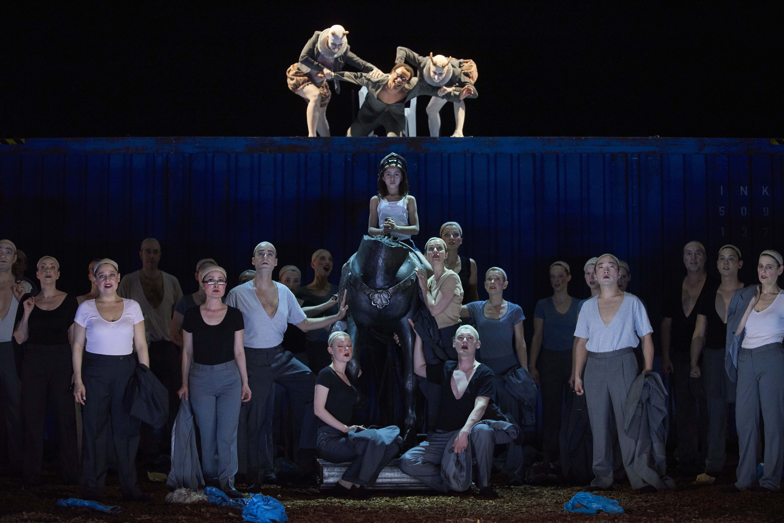 """Ein sehenswertes Stück: """"Saul"""" am Theater Regensburg. Foto: Martin Sigmund / Theater Regensburg."""