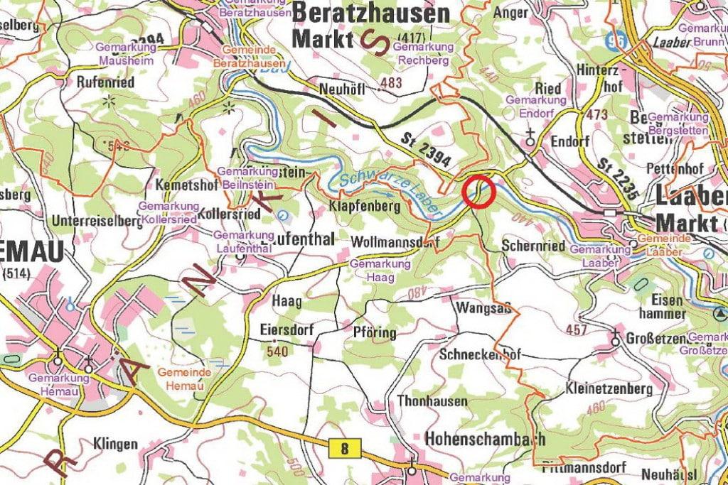 Karte: Landkreis Regensburg