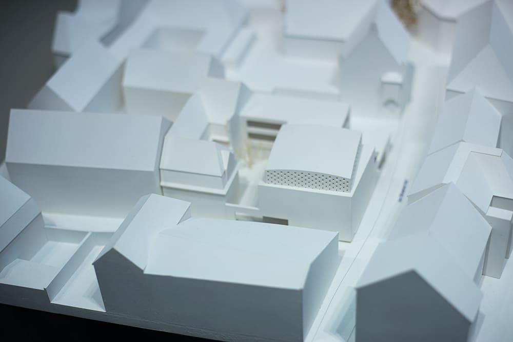Das Modell des neuen jüdischen Gemeindezentrums mit Synagoge. Bild: ld.