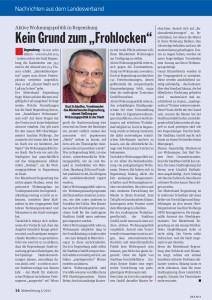 Kritik in der Mieterzeitung, die an 53.000 Mitglieder verschickt wird.