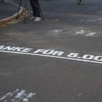Wegmarke beim unfreiwilligen Spendenlauf in Wunsiedel. Braucht der Dritte Weg bald einen Spendenlauf für sich selbst? Foto: Witzgall
