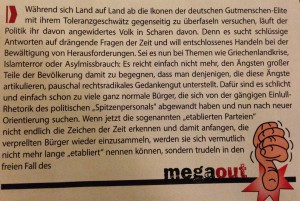 """""""MegaIn"""": Kittels aktueller Erguss."""