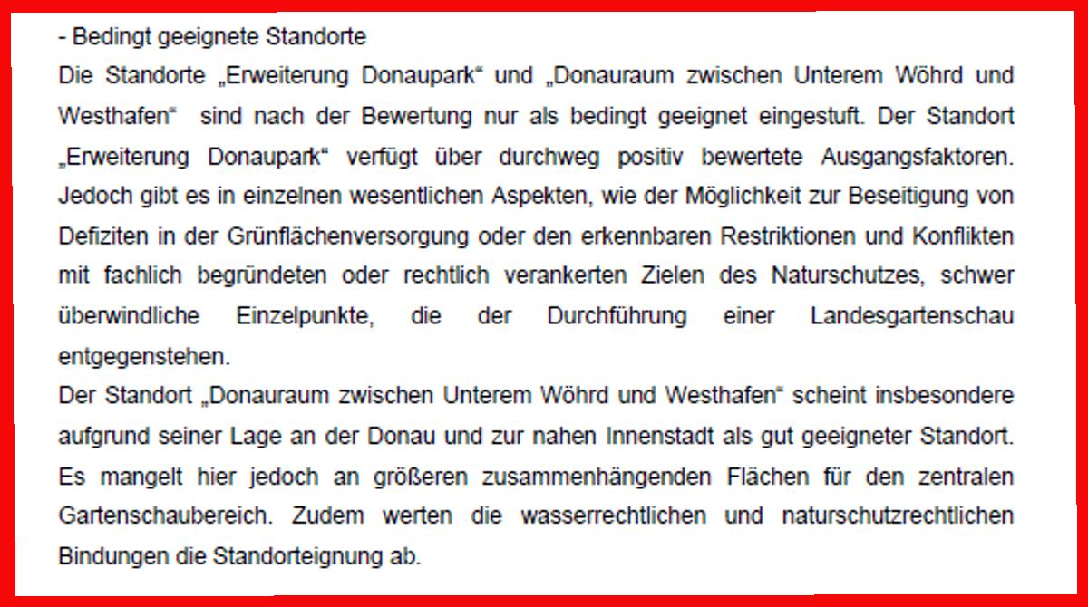 """Etwas mehr als zehn Zeilen in einer fünfseitigen Stadtratsvorlage: """"Standortprüfung""""."""