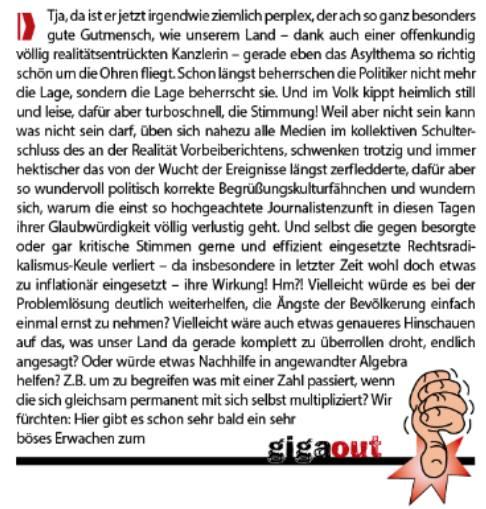 November-Ausgabe der Stadtzeitung. Peter Kittel legt nach.