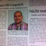 Artikel zur Affäre um Regensburg Haber vom Freitag in der Donaupost. Die anderen Medien in Regensburg schweigen das Thema tot.